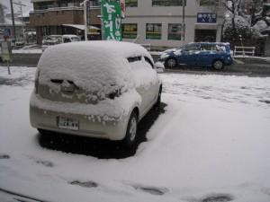 漢方の雪景色