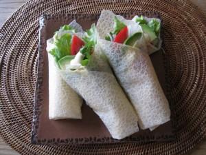 漢方の野菜クレープ