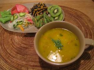 漢方のかぼちゃスープ