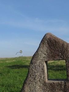 漢方の四角の石