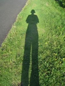 漢方の自分の影