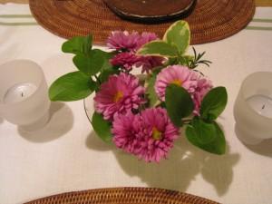 漢方のクリスマスの花