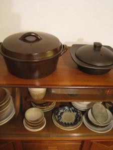 漢方の陶器の器