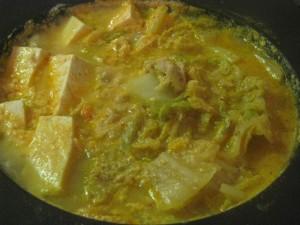 漢方のキムチ鍋