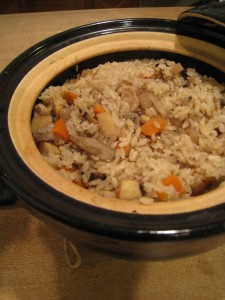 漢方のタケノコ入り味ご飯