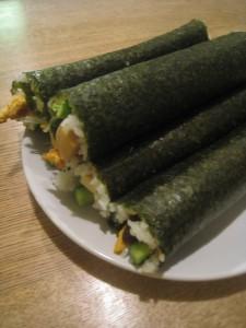 漢方の恵方巻、巻き寿司