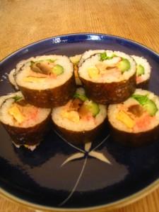 漢方の恵方巻き、巻き寿司