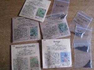 漢方の種まき