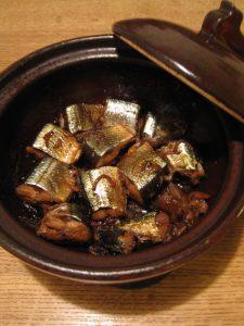 漢方のさんまの梅煮