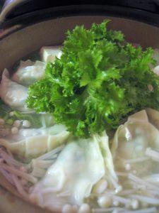 漢方の餃子鍋