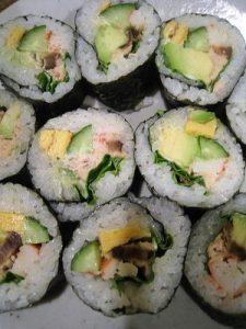 漢方の巻き寿司