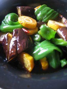 漢方の夏野菜の煮びたし