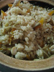 漢方の炊き込みご飯